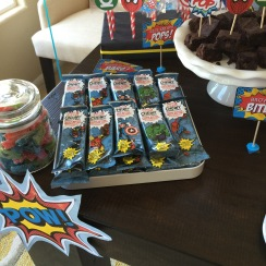 Superhero energy bars